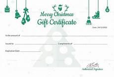 Editable Gift Certificate Template Editable Christmas Gift Certificate Template In Adobe