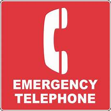Emergency Call Trail And Symbol Sign Emergency Telephone With Symbol