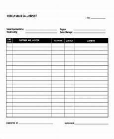 Sales Representative Weekly Report Sample 9 Daily Call Report Templates Pdf Word Pages Free