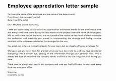 Appreciation Letter To Employees Appreciation Letters To Employees Appreciation Letter
