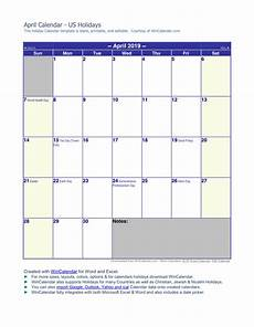 2020 calendar doc april 2019 calendar in word and pdf formats