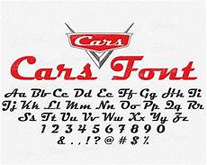 Disney Cars Font Style Cars Inspired Font Svg Disney Cars Inspired Svg Font