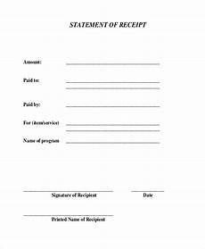Generic Receipt Form Free 24 Sample Receipt Forms In Pdf Excel Word