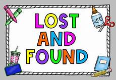 Lost And Found Sign Lost And Found Sign Freebie By Learning With Miss Cherrie