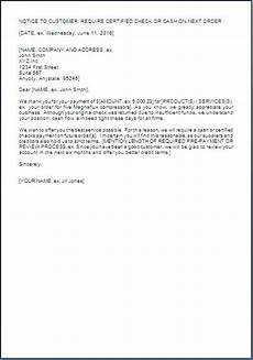 Insufficient Funds Letter To Customer Letter To Customer For Changing Payment Terms