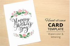Day Cards Templates Happy Mother S Day Card Template Card Templates