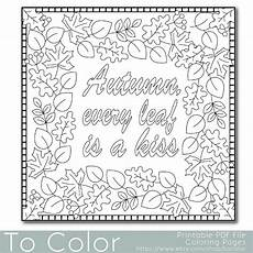 Ausmalbilder Herbst Pdf Autumn Leaves Coloring Page For Adults Pdf Jpg By Tocolor