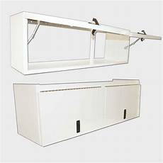 overhead cabinet 60 0 quot length flip up door white