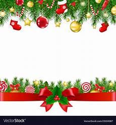 Christmas Card Borders Free Borders With Ribbon Royalty Free Vector Image