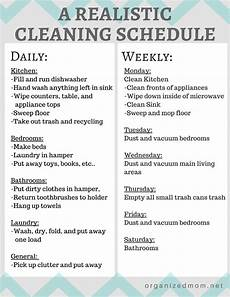 Cleaning House Schedule Chart Realistic Cleaning Chart 2 Cleaning Schedule Cleaning