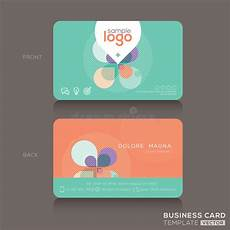 Trendy Business Cards Modern Trendy Business Card Design Template Stock Vector
