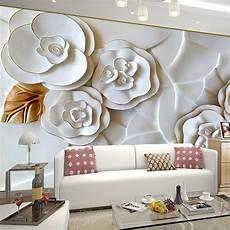 flower wallpaper modern modern brief 3d wallpaper for living room sofa tv