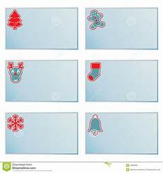 Printable Christmas Note Cards Christmas Note Cards Stock Vector Illustration Of