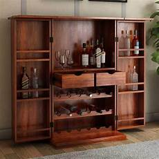 expandable rosewood rustic bar cabinet with bottle storage