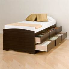 prepac 6 drawer platform storage bed by oj
