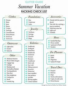 Packing For Vacation Checklist Summer Vacation Packing Checklist Glitter Guide Amp Dream