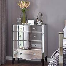 viola mirrored 4 drawer chest chest of drawers drawers