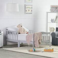 orbelle contemporary solid wood toddler bed gray