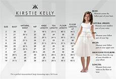 Miller Dress Size Chart Flower Girl Size Chart Kirstie