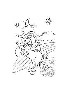 coloring unicorn in the meadow dibujos dibujos de