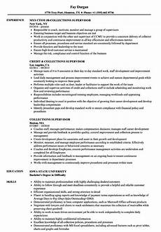 Collection Manager Resume Collections Supervisor Resume Samples Velvet Jobs