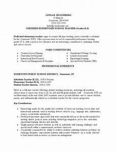 Best Teacher Resume Best Elementary School Teacher Resume Templates At