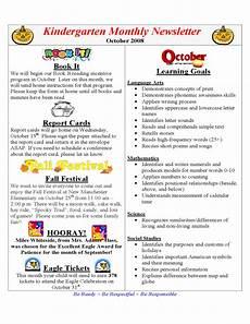 Monthly Newsletter Templates Kindergarten Monthly Newsletter Free Download