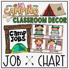Camping Jobs Camping Theme Classroom Decor Bundle Over 800 Pages By