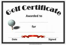 Golf Certificates Templates Free Printable Golf Certificates Customizable