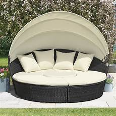 rattan day bed with table 180cm clifford