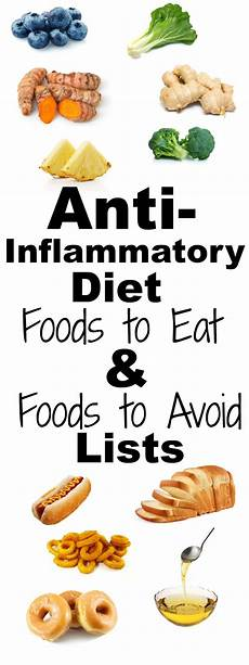anti inflammatory diet list of foods to eat and avoid