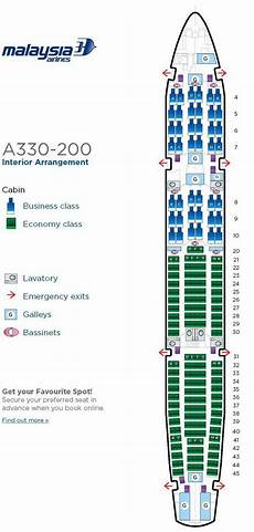 Shrine On Airline Seating Chart Malaysia Airlines Airbus A330 200 Aircraft Seating Chart