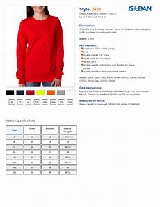 Cotton On Size Chart Gildan 2410 Ultra Cotton Long Sleeve T Shirt With A Pocket