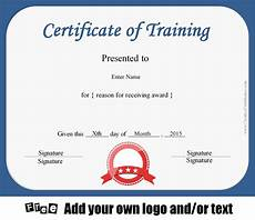 Certificate Of Training Template Free Free Certificate Of Training Template Customizable