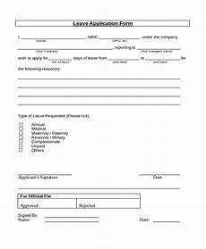 Company Application Form Free 8 Sample Leave Application Forms In Pdf Ms Word