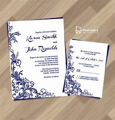 Invitation Free Download Free Pdf Wedding Invitation Download Foliage Borders