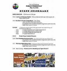 Examples Of An Itinerary 11 Event Itinerary Templates Sample Example Format
