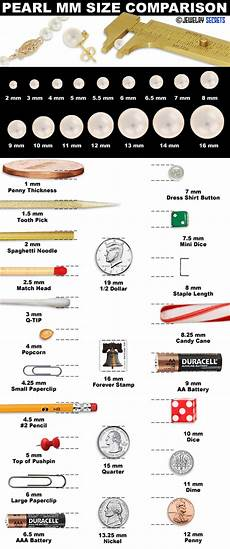 Bead Millimeter Size Chart Pearl Size Mm Comparison Chart Jewelry Secrets