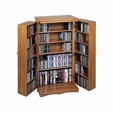 leslie dame 40 quot cd dvd media storage cabinet in oak