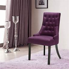 Purple Dining Room Chairs Purple Ikayaa Accent Linen Fabric Dining Room Chair