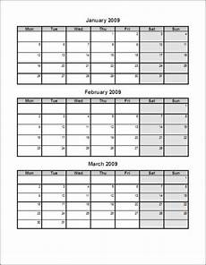 Calendar Template 3 Months Per Page September 2018 Page 8 Template Calendar Design
