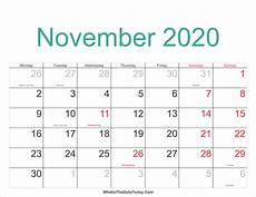 November 2020 Calendar Printable November 2020 Calendar Printable With Holidays