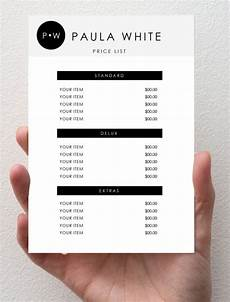 Pricelist Template Beauty 31 Price List Templates Doc Pdf Excel Psd Free