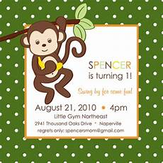Monkey Birthday Invitations Monkey Themed Play Group Birthday Party