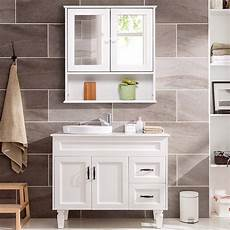 tangkula bathroom cabinet wall mount storage cabinet with