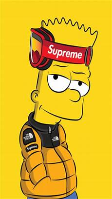 simpsons wallpaper supreme supreme wallpaper by amatoru88 5c