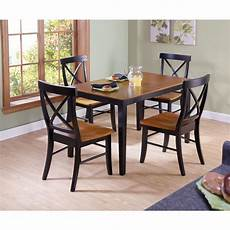 international concepts dining essentials 5 piece black and