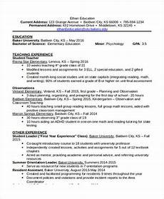 Free Education Resume Template 15 Basic Education Resume Templates Pdf Doc Free