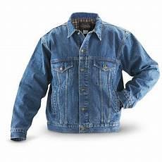 Jean Jacket Denim Guide Guide Gear Flannel Lined Denim Jean Jacket Stonewash