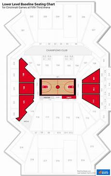 Uc Bearcats Basketball Seating Chart Fifth Third Arena Cincinnati Seating Guide